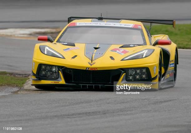 Antonio Garcia ESP Jordan Taylor USA Nicky Catsburg NLD driver GT LE MANS of Corvette Racing~Corvette C8R during the Roar before 24 IMSA Race on...