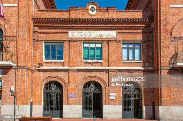 antonio garcia quintana primary school building valladolid - valladolid spanish city stock pictures, royalty-free photos & images
