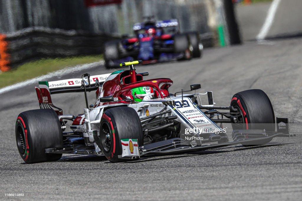Antonio Giovinazzi Driving The Alfa Romeo Sauber F1 Team On Track News Photo Getty Images