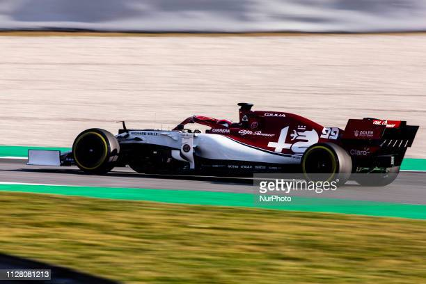 Antonio Giovinazzi from Italy with 99 Alfa Romeo Racing in action during the Formula 1 2019 PreSeason Tests at Circuit de Barcelona Catalunya in...