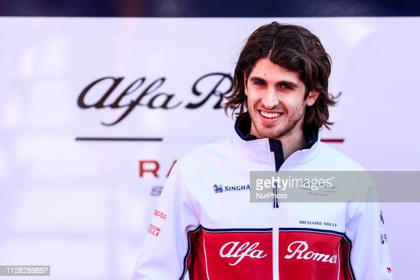 Antonio Giovinazzi from Italy with 99 Alfa Romeo Racing portrait during the Formula 1 2019 PreSeason Tests at Circuit de Barcelona Catalunya in...