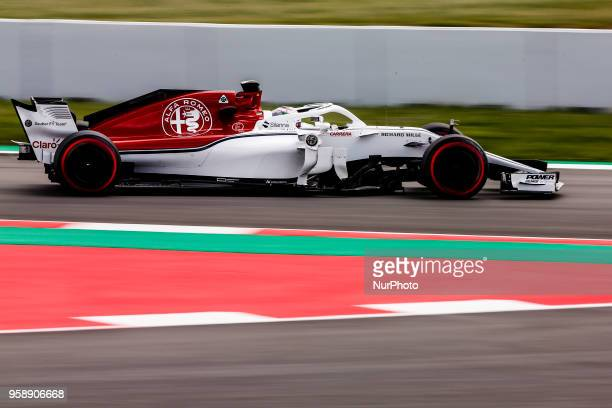 36 Antonio Giovinazzi from Italy with Alfa Romeo Sauber F1 Team C37 during the Spanish Formula One inseason young drivers Tests at Circuit de...