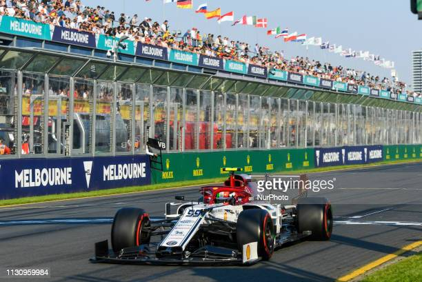 Antonio Giovinazzi of Italy drives the Alfa Romeo Racing C38 during qualifying for the Australian Formula 1 Grand Prix at Albert Park on March 16...