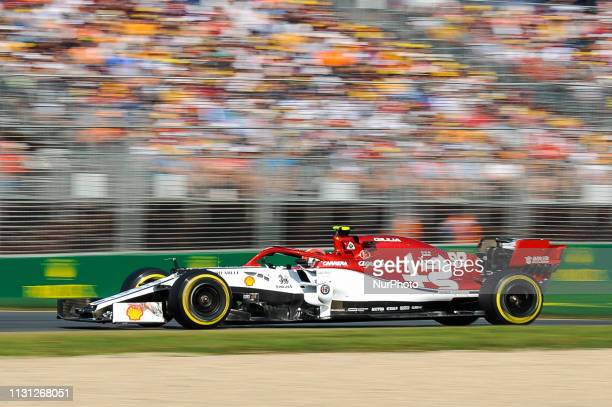 Antonio Giovinazzi of Italy drives the Alfa Romeo Racing C38 during the Australian Formula 1 Grand Prix at Albert Park on March 17 2019 in Melbourne...