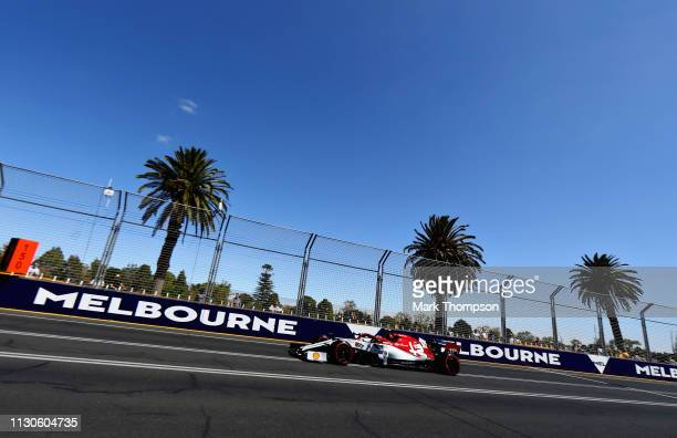 Antonio Giovinazzi of Italy driving the Alfa Romeo Racing C38 Ferrari on track during practice for the F1 Grand Prix of Australia at Melbourne Grand...