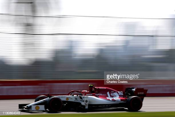 Antonio Giovinazzi of Italy driving the Alfa Romeo Racing C38 Ferrari on track during final practice for the F1 Grand Prix of Australia at Melbourne...