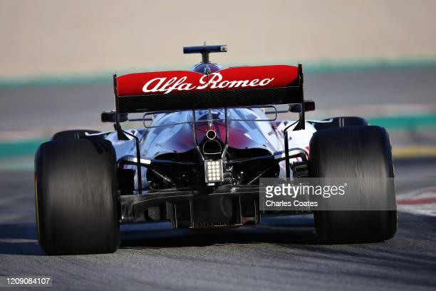 Antonio Giovinazzi of Italy driving the Alfa Romeo Racing C39 Ferrari on track during Day Two of F1 Winter Testing at Circuit de BarcelonaCatalunya...