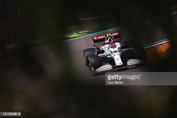 Antonio Giovinazzi of Italy driving the Alfa Romeo Racing C41 Ferrari during final practice ahead of the F1 Grand Prix of Emilia Romagna at Autodromo...