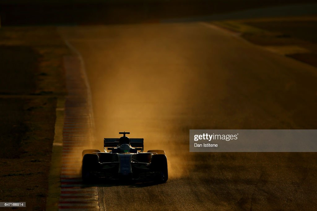 Antonio Giovinazzi of Italy driving the (36) Sauber F1 Team Sauber C36 Ferrari on track during day four of Formula One winter testing at Circuit de Catalunya on March 2, 2017 in Montmelo, Spain.