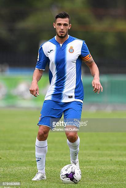 Antonio Glauder Garcia of Espanyol during the third and fourth place play off Super Cup NI game at Ballymena Showgrounds on July 23 2016 in Ballymena...