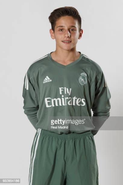 Antonio Gomis of Real Madrid Cadete B poses during an official portrait session at Valdebebas training ground on September 28 2017 in Madrid Spain