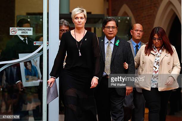 Antonio Gotingco the husband of Blessie Gotingco leaves the Auckland High Court on May 22 2015 in Auckland New Zealand A 28yearold man accused of...
