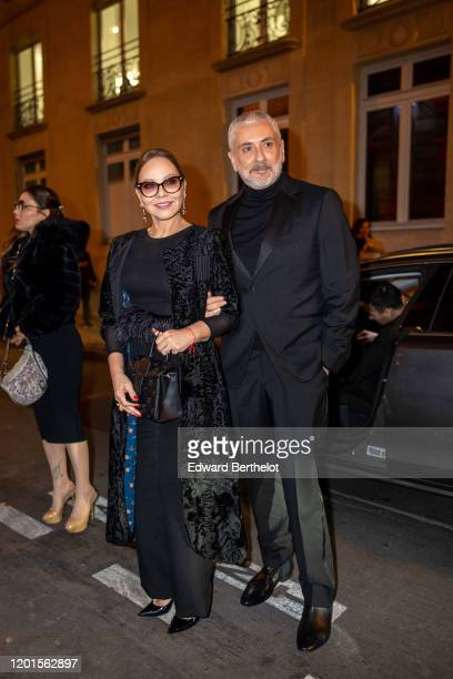 Antonio Grimaldi and Ornella Muti arrive at Sidaction Gala Dinner 2020 At Pavillon Cambon on January 23 2020 in Paris France