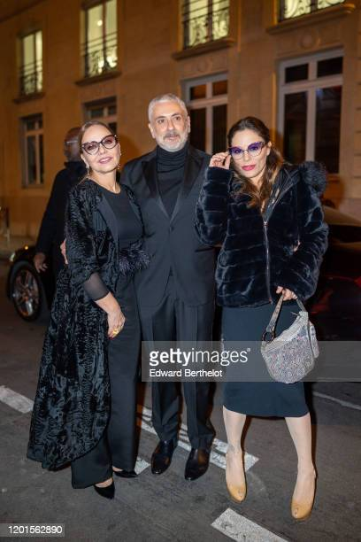 Antonio Grimaldi Ornella Muti and her daughter Naike Rivelli arrives at Sidaction Gala Dinner 2020 At Pavillon Cambon on January 23 2020 in Paris...