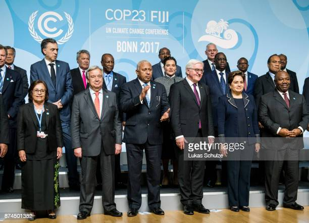 Antonio Guterres Secretary General of the United Nations Frank Bainimarama Prime Minister of Fiji and President of the COP23 German President...