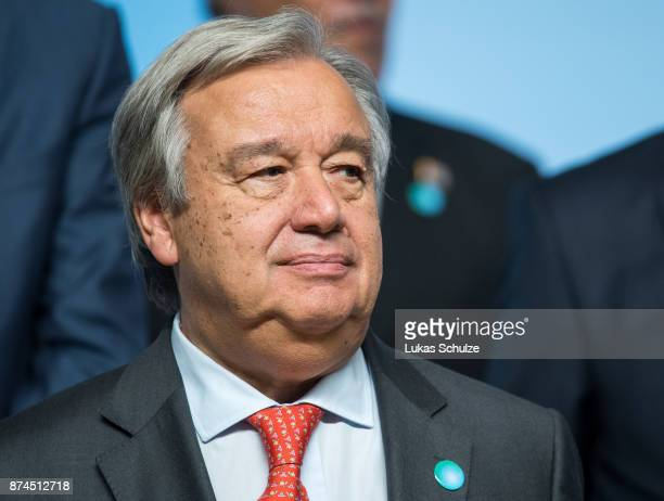 Antonio Guterres Secretary General of the United Nations is seen during the COP 23 United Nations Climate Change Conference on November 15 2017 in...