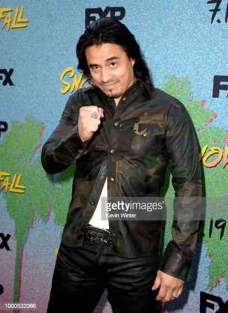 Antonio Jaramillo arrives at the premiere of FX's 'Snowfall' Season 2 at the Regal Cinemas LA LIVE Stadium 14 on July 16 2018 in Los Angeles...
