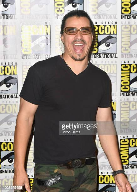 Antonio Jaramillo attends FX's 'Mayans MC' press line during ComicCon International 2018 at Hilton Bayfront on July 22 2018 in San Diego California