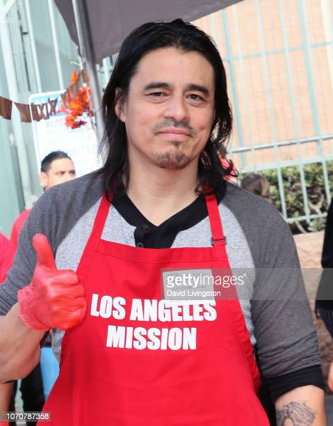 Antonio Jaramillo attends the Los Angeles Mission Thanksgiving event for the homeless at the Los Angeles Mission on November 21 2018 in Los Angeles...