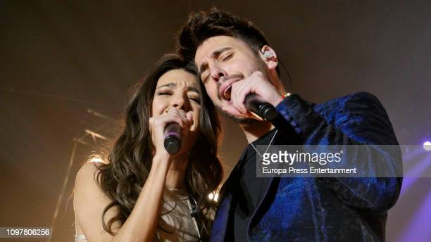 Antonio Jose and Ana Guerra perform in concert at WizinkCenter on January 18 2019 in Madrid Spain