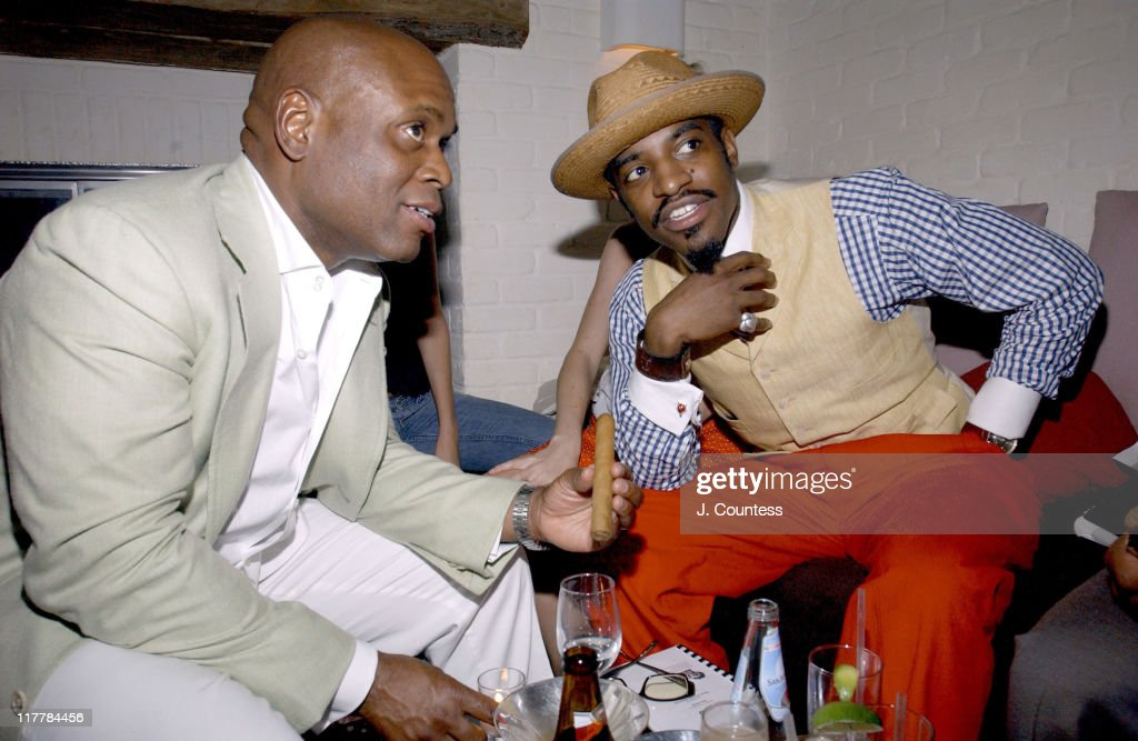 Antonio 'L.A.' Reid and Andre 3000 during L.A. Reid Birthday Celebration - Inside at Cipriani's in New York City, New York, United States.