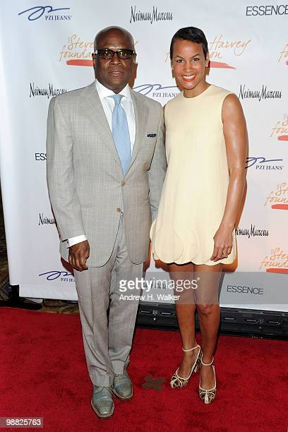 Antonio 'LA' Reid and Erica Reid attend the New York Gala benefiting The Steve Harvey Foundation at Cipriani Wall Street on May 3 2010 in New York...