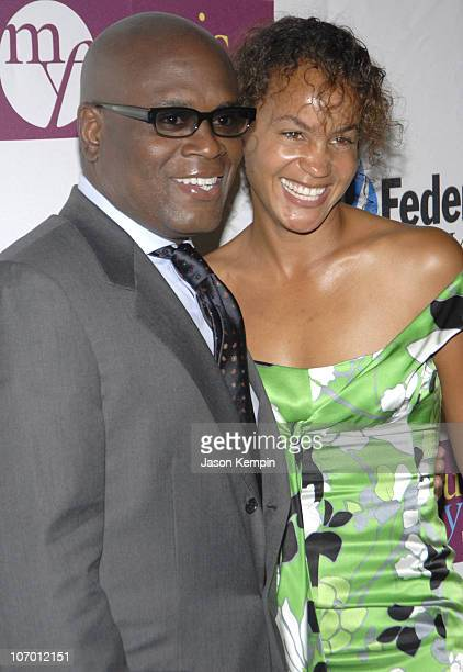 Antonio LA Reid and Erica Reid during Antonio LA Reid Receives The UJAFederation Of New York's Music Visionary Award July 18 2006 at The Pierre Hotel...