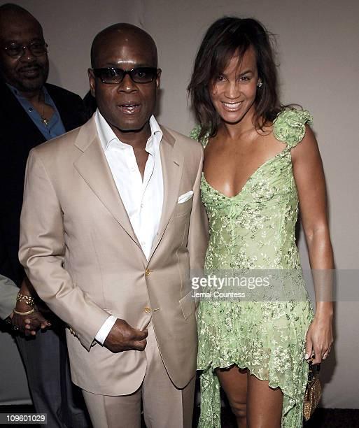Antonio LA Reid and Erica Reid during Antonio 'LA' Reid's 50th Birthday Party Arrivals at Nobu 57 in New York City New York United States