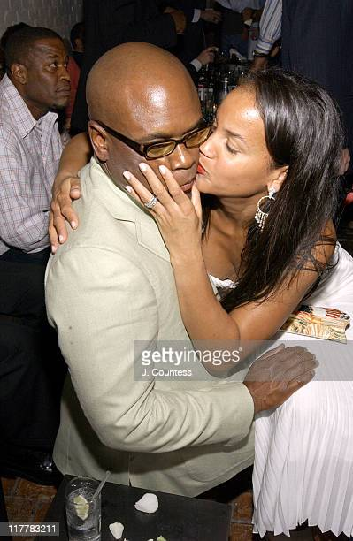 Antonio LA Reid and Erica Reid during LA Reid Birthday Celebration Inside at Cipriani's in New York City New York United States