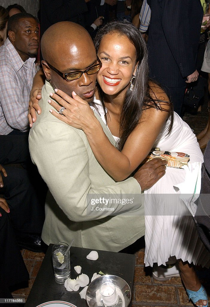 Antonio 'L.A.' Reid and Erica Reid during L.A. Reid Birthday Celebration - Inside at Cipriani's in New York City, New York, United States.