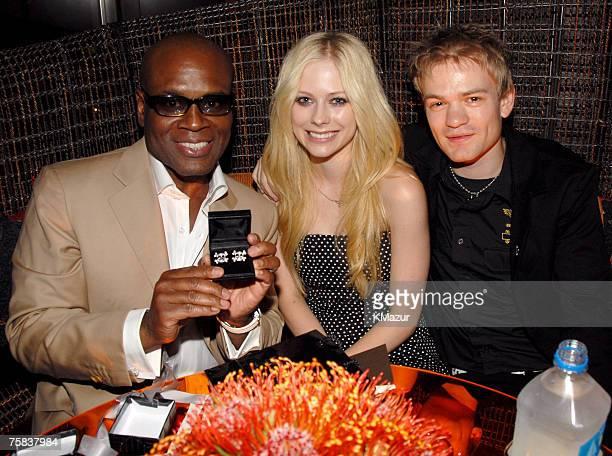 Antonio 'LA' Reid Avril Lavigne and Deryck Whibley
