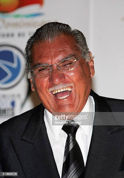 Antonio 'La Tota' Carbajal poses backstage at the 2nd Annual Premios FOX Sports Awards on December 15 2004 at the Jackie Gleason Theatre in Miami...