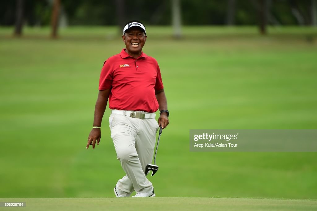 Antonio Lascuna of Philippines pictured during round three of the Yeangder Tournament Players Championship at Linkou lnternational Golf and Country Club on October 7, 2017 in Taipei, Taiwan.