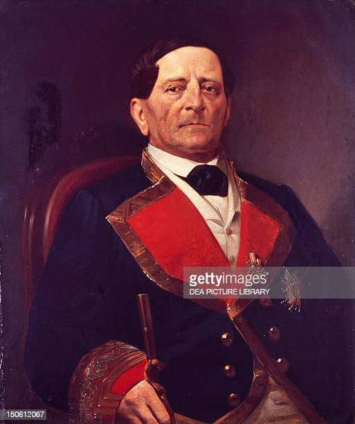 Antonio Lopez de Santa Ana by Paul Ouvrier Mexico 19th century