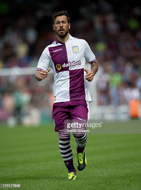 Antonio Luna of Aston Villa during the Pre Season Friendly match between Wycombe Wanderers and Aston Villa at Adams Park on July 20 2013 in High...