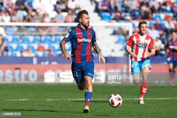 Antonio Luna of Levante UD during the Copa del Rey match between Levante UD and Club Deportivo Lugo at Ciutat de Valencia Stadium on December 6 2018...