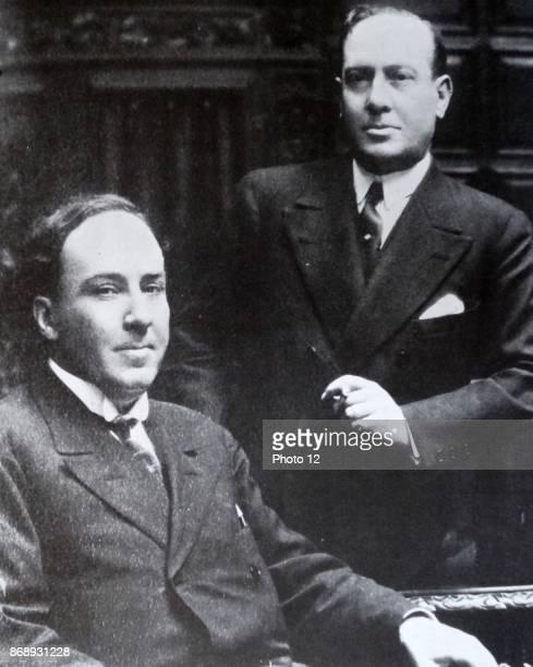 Antonio Machado Spanish republican poet with his brother the poet Manuel Machado