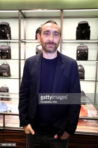 Antonio Manetti attends the cocktail reception to present Prada Resort 2018 collection on December 14th 2017 in Prada's Via dei Condotti stores Rome