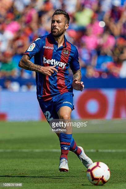 Antonio Manuel Luna Rodriguez of Levante UD in action during the La Liga match between Levante UD and Sevilla FC at Ciutat de Valencia on September...