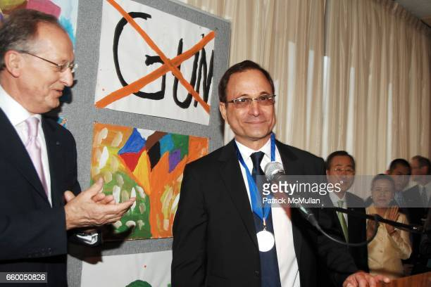 Antonio Maria Costa and Ross Bleckner attend WELCOME TO GULU EXHIBITION AND BENEFIT ART SALE ANTI-HUMAN TRAFFICKING INNITIATIVE at The United Nations...