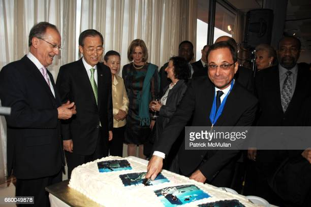 Antonio Maria Costa, Ban Ki-moon and Ross Bleckner attend WELCOME TO GULU EXHIBITION AND BENEFIT ART SALE ANTI-HUMAN TRAFFICKING INNITIATIVE at The...