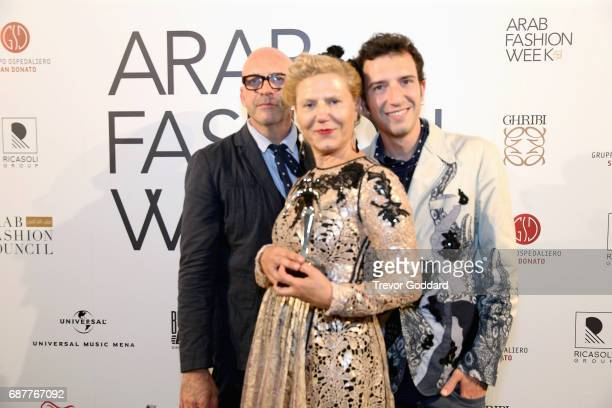 Antonio Marras and guests attend the Arab Fashion Week Ready Couture Resort 2018 Gala Dinner on May 202017 at Armani Hotel in Dubai United Arab...