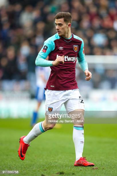 Antonio Martinez of West Ham United during the The Emirates FA Cup Fourth Round match between Wigan Athletic and West Ham United on January 27, 2018...