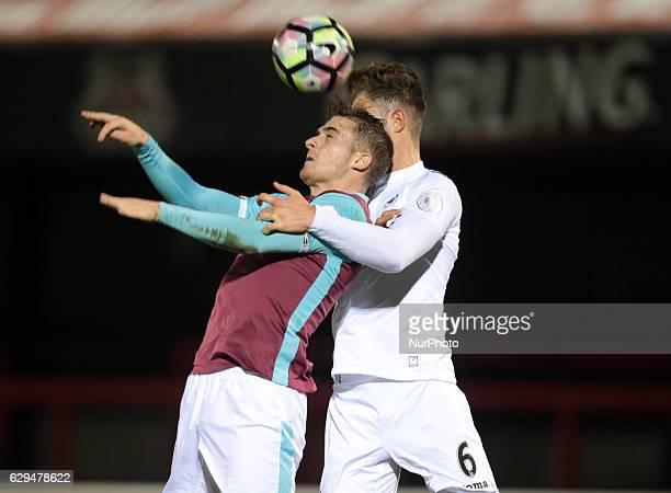 Antonio Martinez of West Ham UnitedU23s during Premier League 2 match between West Ham United Under 23s against Swansea CityUnder 23s at Chigwell...