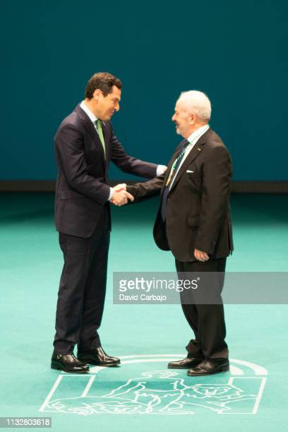 Antonio MartinGarcia receives the Gold Medal of Andalusia on February 28 2019 in Seville Spain