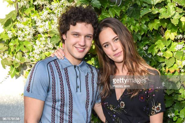 Antonio Marziale and Claire Chapelli attend Special Screening And QA For Netflix's 'Alex Strangelove' at Los Angeles LGBT Center on June 4 2018 in...