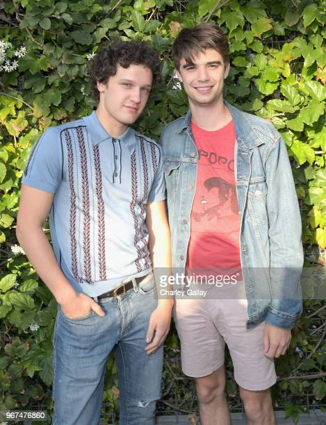 Antonio Marziale and Daniel Doheny attend a special screening of the Netflix film 'Alex Strangelove' at the Los Angeles LBGT Center and The Renberg...