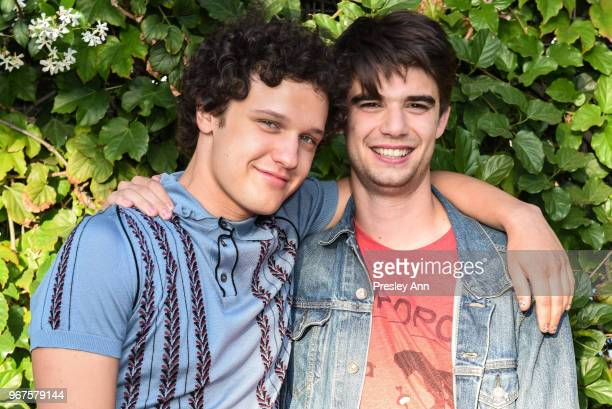 Antonio Marziale and Daniel Doheny attend Special Screening And QA For Netflix's 'Alex Strangelove' at Los Angeles LGBT Center on June 4 2018 in Los...