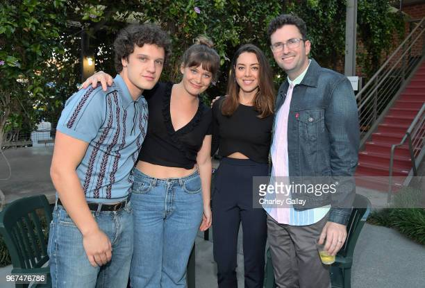 Antonio Marziale Rachel Keller Aubrey Plaza and Craig Johnson attend a special screening of the Netflix film 'Alex Strangelove' at the Los Angeles...