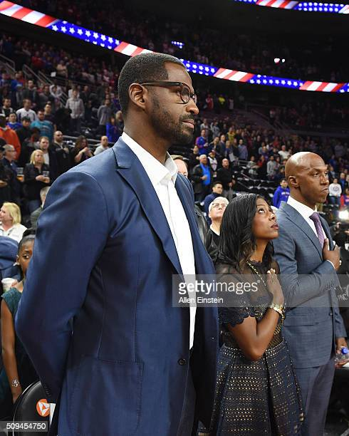 Antonio McDyess and Chauncey Billups during Detroit Pistons and Denver Nuggets game on February 10 2016 at The Palace of Auburn Hills in Auburn Hills...